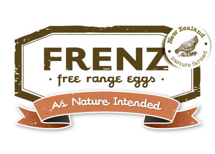 Frenz Free Range Eggs Logo Design