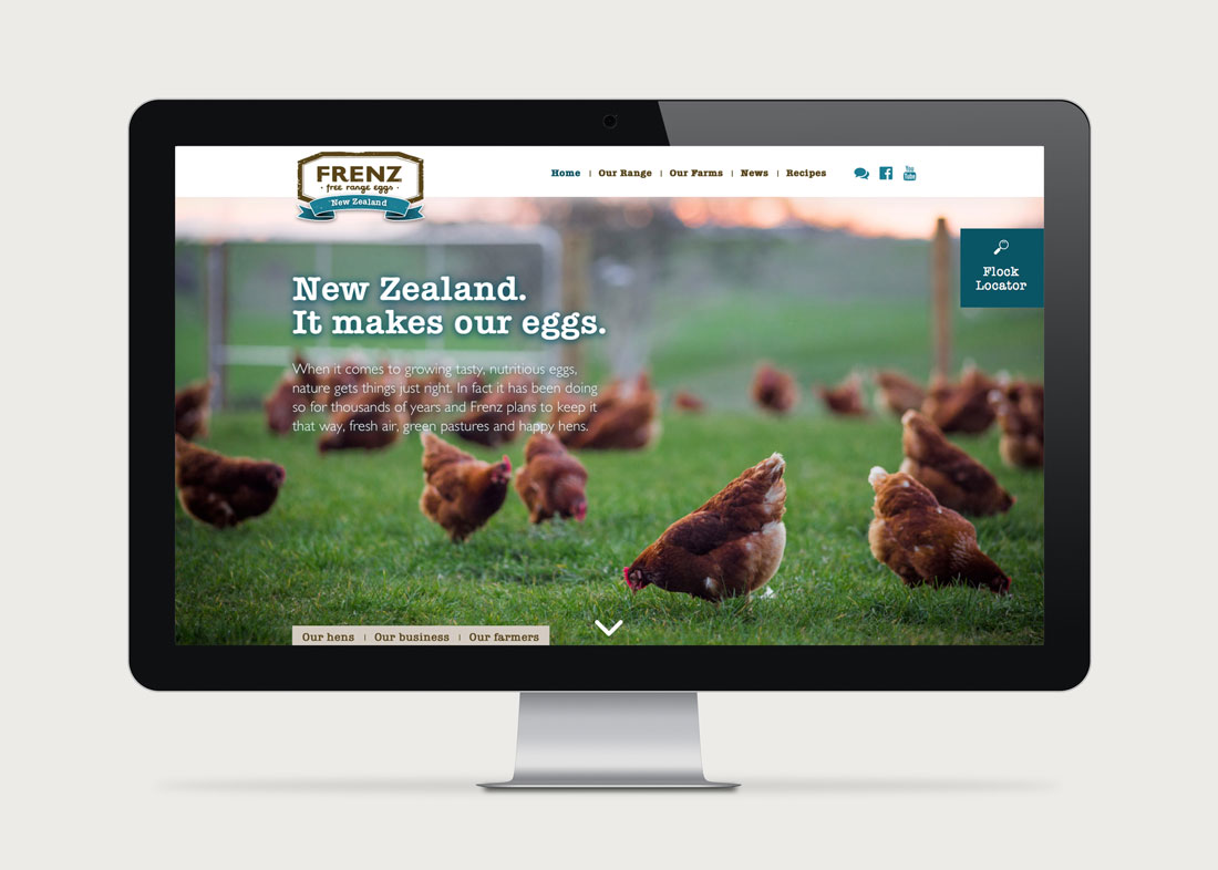 Frenz Eggs Website Design
